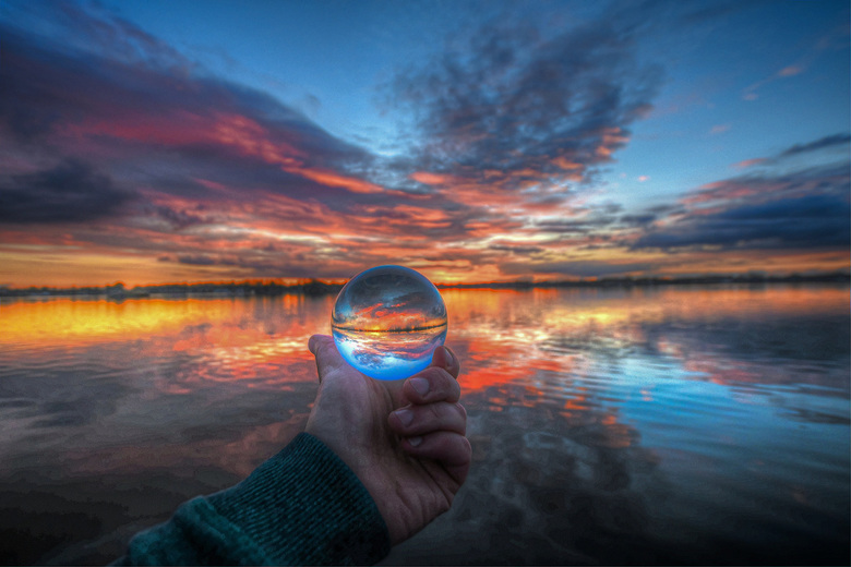 Glassball sunset elfhoeven -