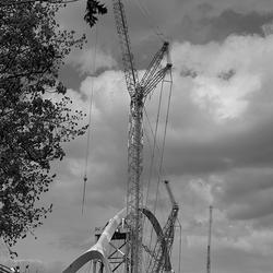 bouw van de oversteek