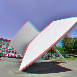 Lucien Den Ahrend art op Marciniplein Rotterdam 3D