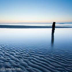 Sunset reflection - kustgebied Noordzee - Groede