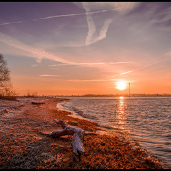 Sunrise in the winter,.......Gorinchem