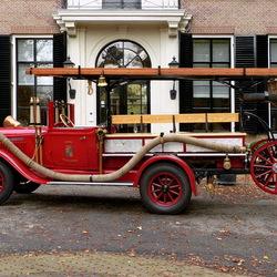 Oude brandweerauto.