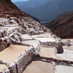 Zoutterrassen te Peru