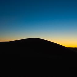 Zonsondergang in de woestijn