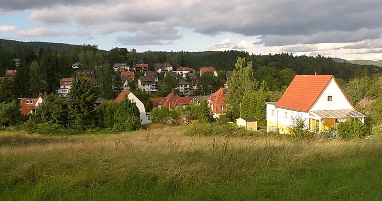 Bad Sachsa. - Een gedeelte van Bad Sachsa in de Harz gebied Duitsland.<br /> 8 september 2015.<br /> Groetjes. Bob.