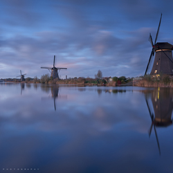 Blue hour at Kinderdijk