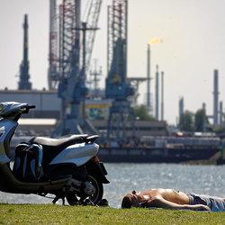 Industrieel zonnebaden