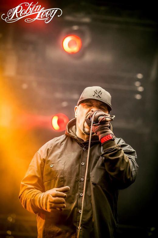 Bodycount - Foto van de band BodyCount geschoten op Graspop Metal Meeting 2015. De zanger Ice-T is tevens acteur in een bekende politie serie (NCIS)