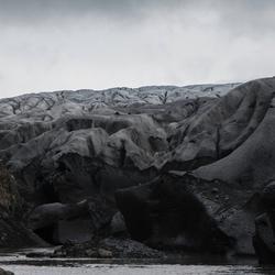 Eindpunt van de gletsjer