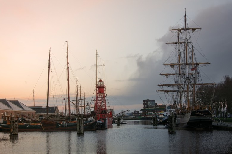 Winter in Den Helder (code sunset)