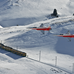 Planes, train and...snow
