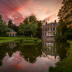 Sunset at Castle Zijpendaal