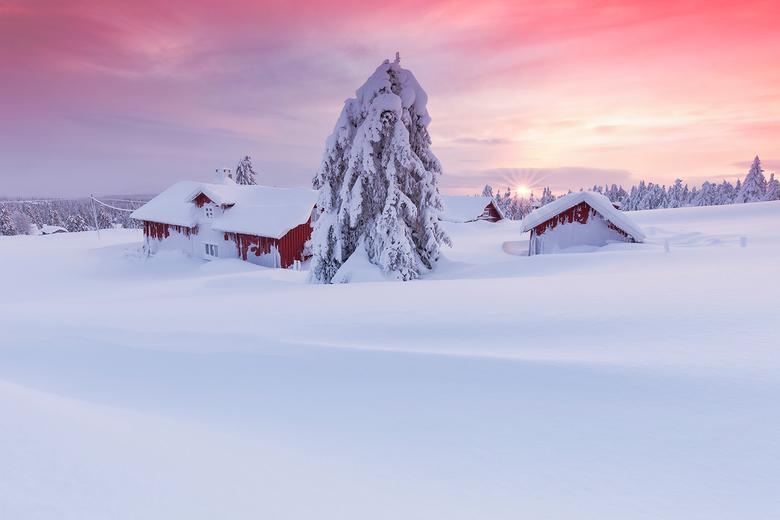 Zonsondergang in Lillehammer