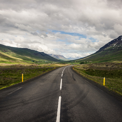 Icelandic's ring road.