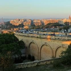 Ochtendlicht over Valletta