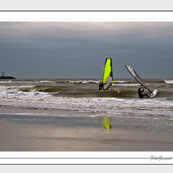 Surfers in Scheveningen