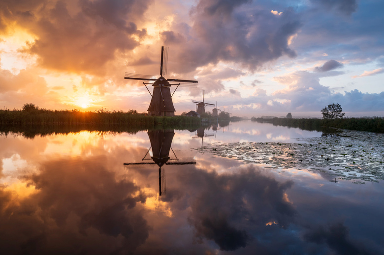 Dutch Painting - Jeetje wat een zonsopkomst was dit! Het leek wel een schilderij zo mooi.
