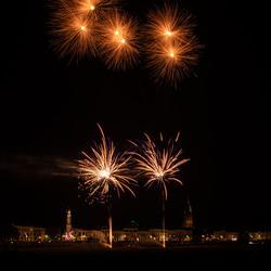 Fireworks and Skyline