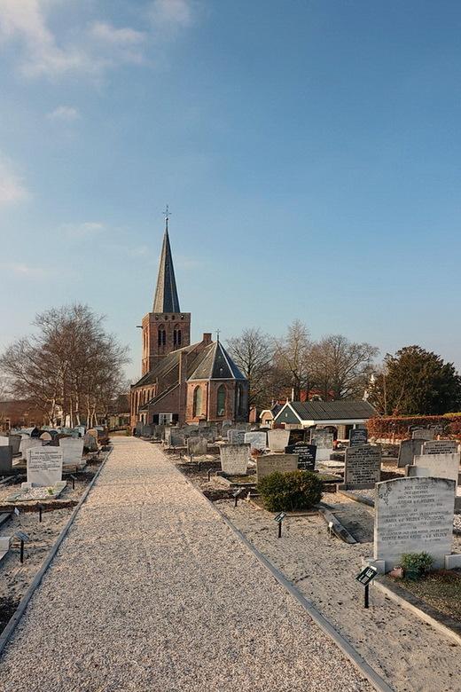 Het kerkje van Kortenhoef. - Het fraai gelegen oude kerkje aan de kortenhoefsedijk in Kortenhoef.<br /> Het is een mooi eenvoudig en intiem kerkje en