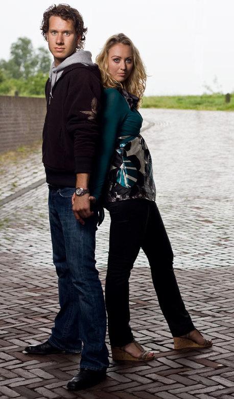 Essio en Collin foto 1 - Fotoshoot Woensdag 10 juni onder de molen in Wijk bij Duurstede (stonden we mooi droog gezien we een regenachtige avond hadde