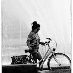 Verfrissing bij de fontein