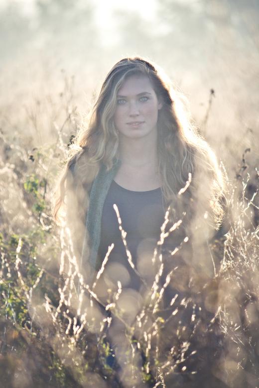Lion in the morning sun - Mailien en ik hebben deze shoot heel vroeg 's ochtends langs de Waal gedaan. HEt was super mooi daar. Beetje mistig, op