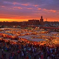 Place Jamaa El fna in Marrakech