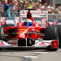 Ferrari F1  op Bavaria City racing