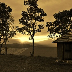 Zonsondergang Nepal