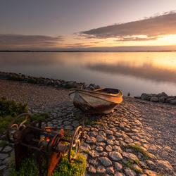 Prachtig licht over het IJsselmeer...