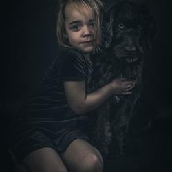 Portret van twee lieve meisjes