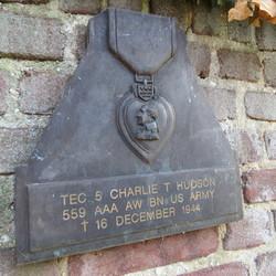 Purple Heart Medal Memorial Plaque in Hoensbroek