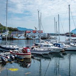 Svolvaer jachthaven - Lofoten, Noorwegen