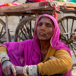 Indiase getrouwde vrouw