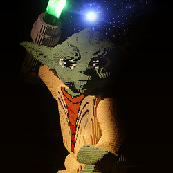 Starwars Yoda at Legoworld