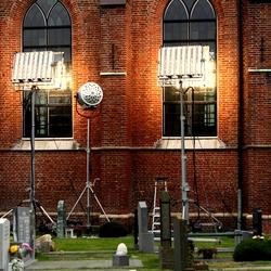 Kunstlichtlampen bij filmopnames Michiel de Ruyter