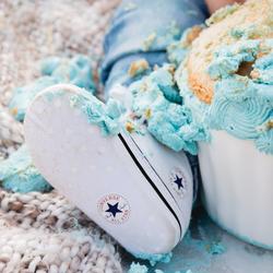 Cake smash mess
