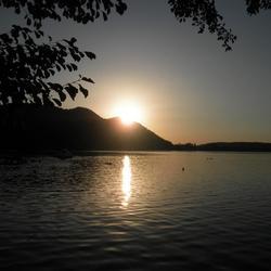 Zonsondergang Klopeiner See