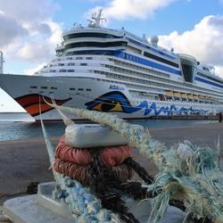 Cruise ship voor Bonaire