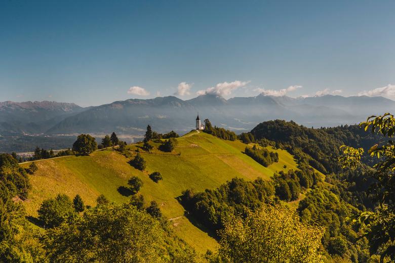 St Primoz Church, Jamnik Slovenia. -