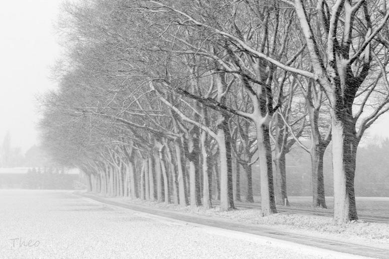 Winteropstelling - Een saaie doorgaande weg in de winter