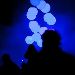 GLOW2014 Pendulum Wave Silhouetten, Eindhoven