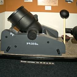 De oude tijd, oud mortier geschut.