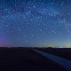 Panorama Melkweg en Noorderlicht