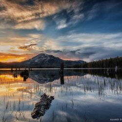 Sunset Mary Lake