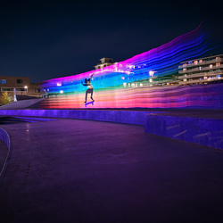 skating rainbow