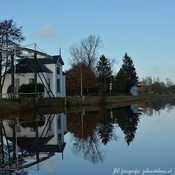 Bruggetje bij het Kieldiep in Kielwindeweer, nabij Hoogezand.
