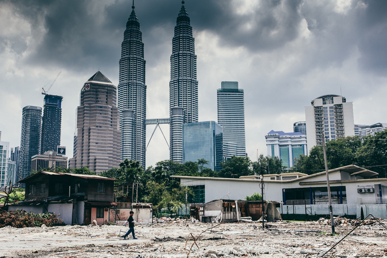 In the shadows of the Petronas Towers - Kuala Lumpur is most famous for the highest Twin Towers in the world. With a staggering height of 452M the Pet
