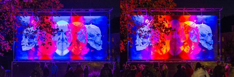 GLOW 2019 - Project 4 OPEN MIND_II - Geïnspireerd op een dubbelfoto van Zoomer 1103.<br /> Speciaal voor deze editie van Glow is het team van de Eind