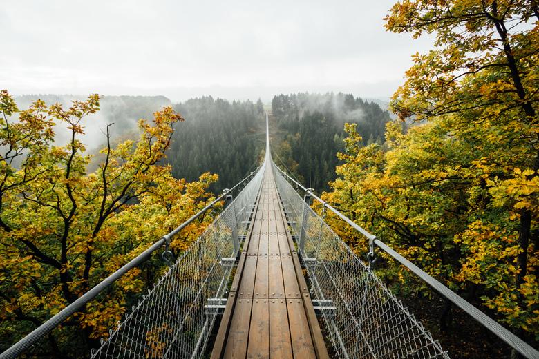 Herfst aan de Geierlay.
